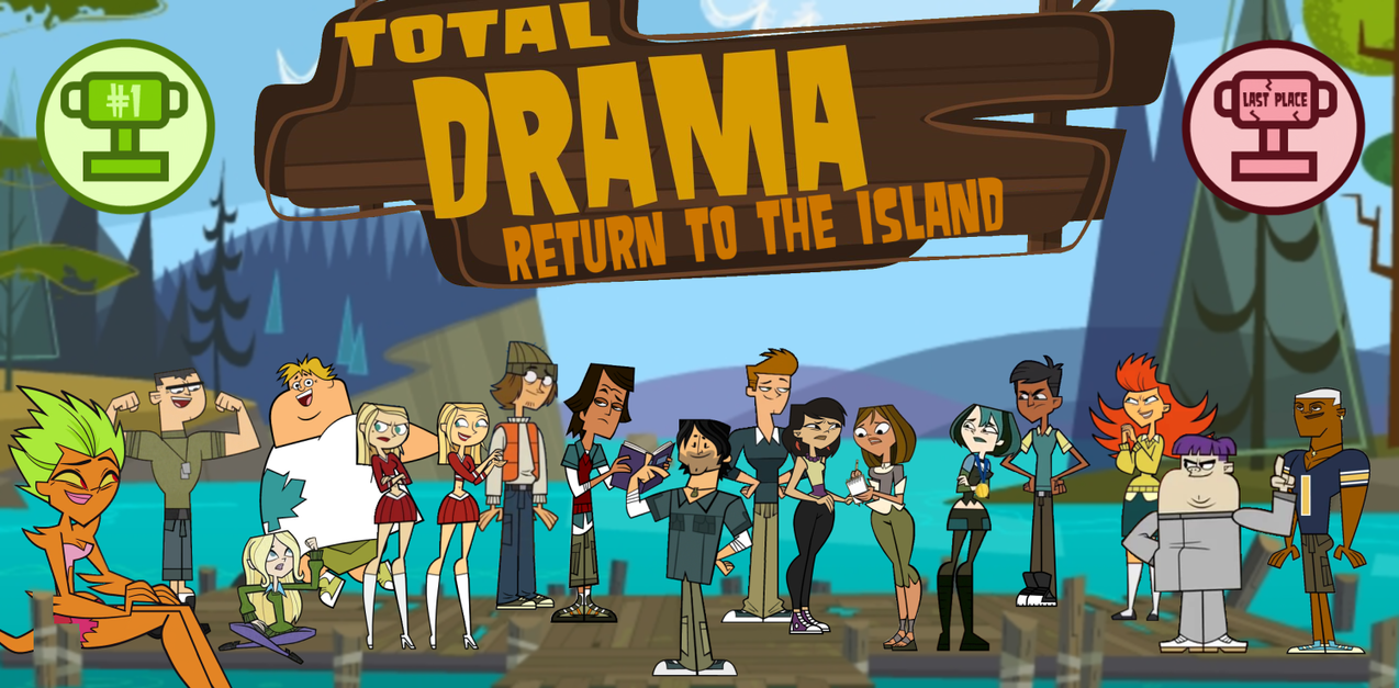total drama return to the island title card by tdgirlsfanforever on
