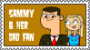Sammy and her Dad Stamp by TDGirlsFanForever