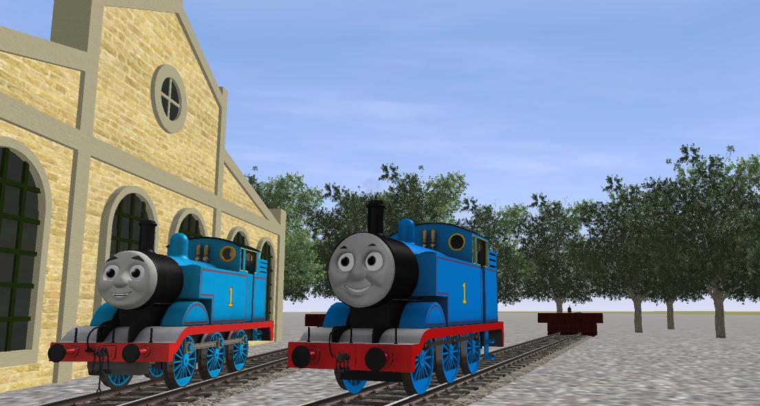 Trainz A New Era: Model Thomas vs  CGI Thomas by TDGirlsFanForever
