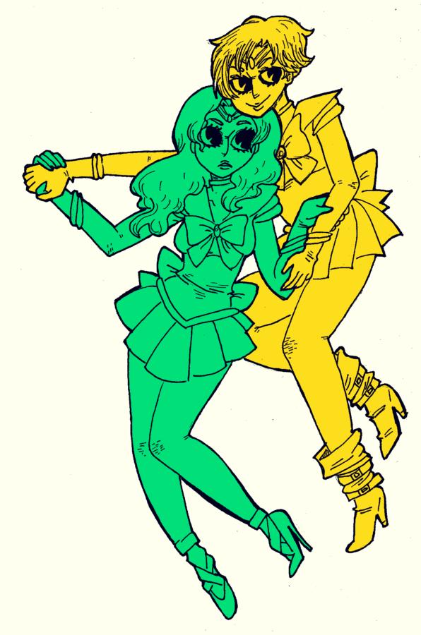 Haruka and Michiru by kicksatanout
