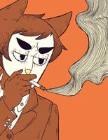 smokercat by kicksatanout
