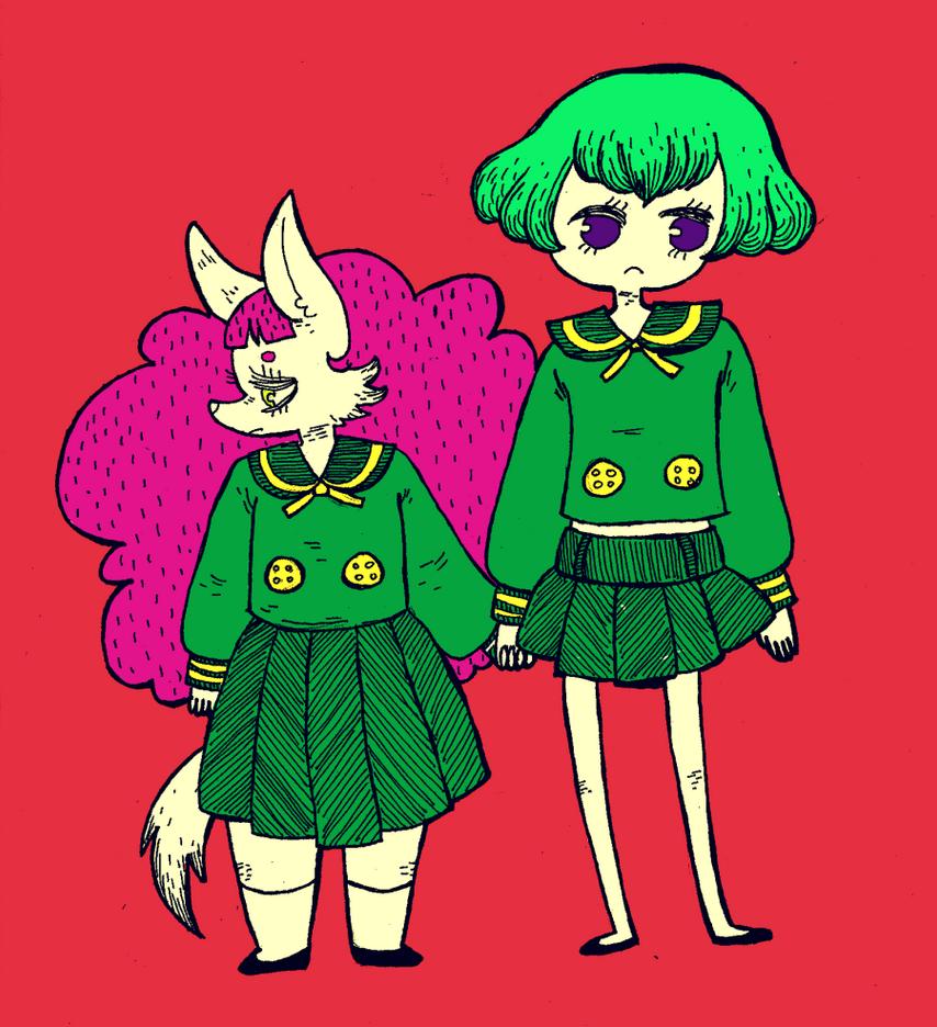 dogchild and child by kicksatanout