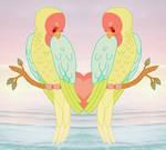 Love Birds In Paradise