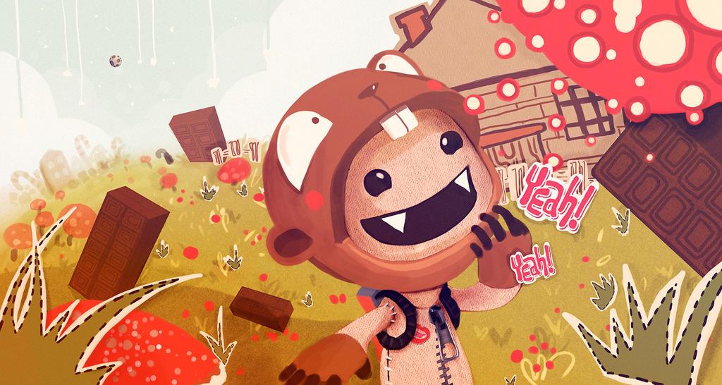 Sweet and mushroom planet by ElisaAyala