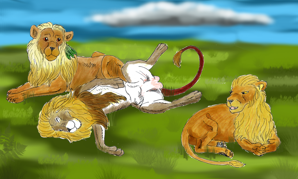 Fanart Lioden: 3 Lions by Nixly on DeviantArt