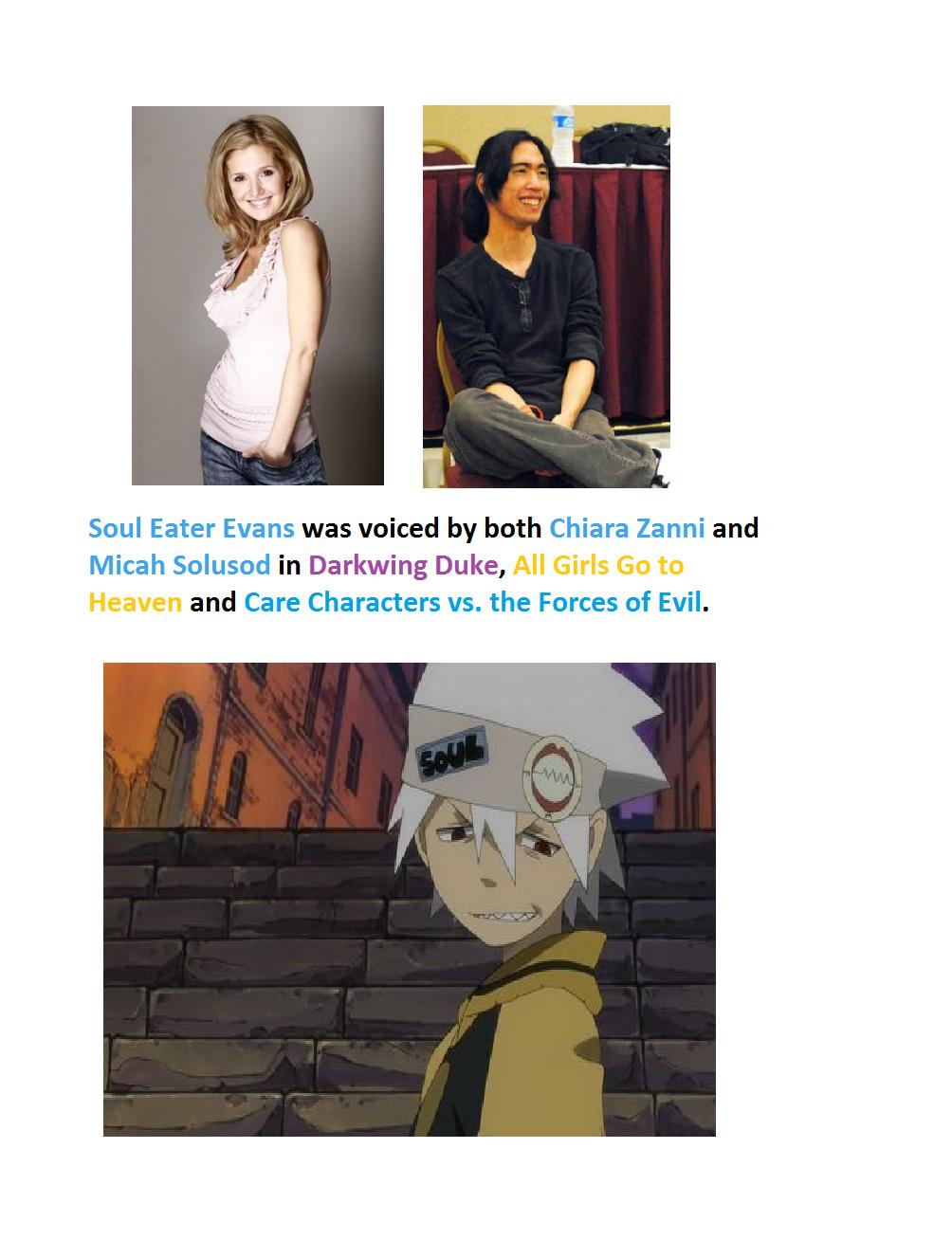 Anime Voice Comparison Soul Eater Evans By Emayuku On Deviantart