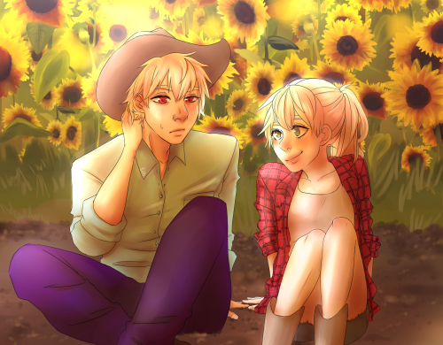 Country Dancing and Sunflower Fields by emayuku
