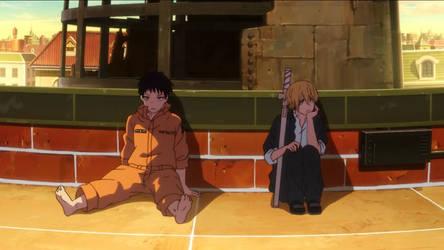 Shinra and Arthur by emayuku