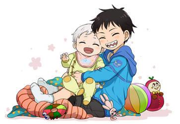 Kid Shinra and Baby Sho Kusakabe by emayuku