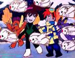 Chasing DigiGnomes in Winter Wonderland by emayuku