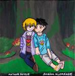 Arthur and Shinra by emayuku