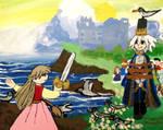 Blathin saves Prince Fiachra by emayuku