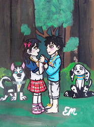 Tamaki And Shinra by emayuku