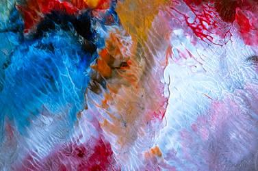 Colorful monotype print #37