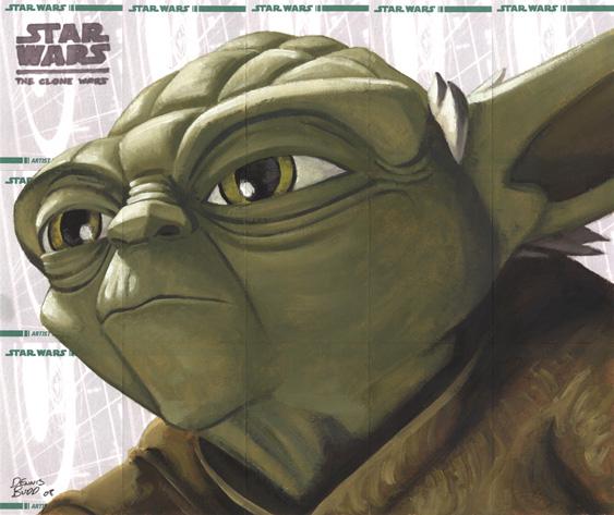 Star Wars Clone Wars- Yoda by DennisBudd