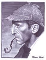convention sketch 21 Sherlock Holmes by DennisBudd