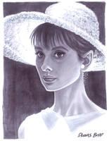 convention sketch 23 Audrey Hepburn by DennisBudd