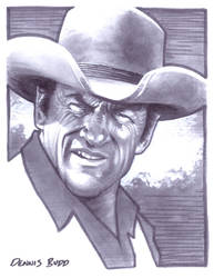 convention sketch 27 Marshal Matt Dillon by DennisBudd