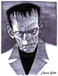 convention sketch 34 Frankenstein's Monster by DennisBudd