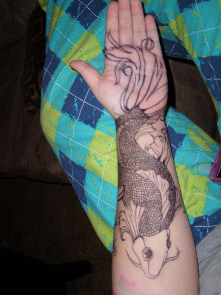 koi fish tattoo flash for free