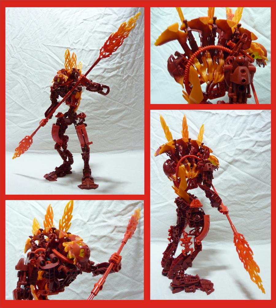 Bionicle MOC - Molten Rahkshi by Alex-Darkrai
