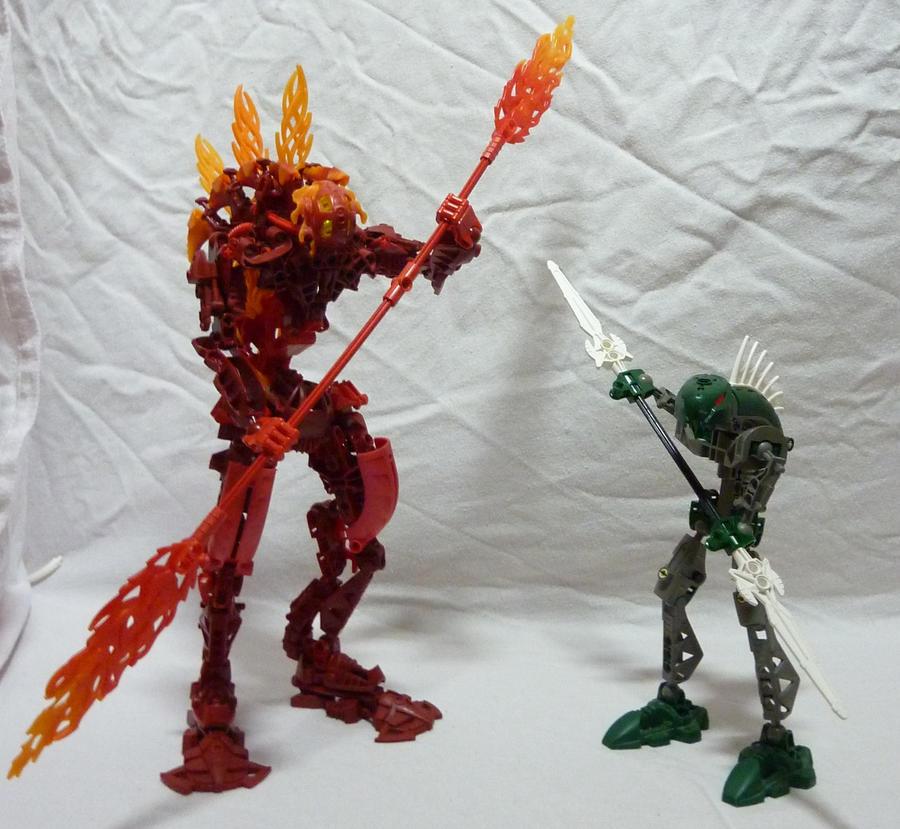 Bionicle MOC - The two Rahkshi by Alex-Darkrai