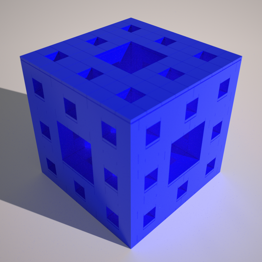 LEGO Render - System Parts Menger Sponge by Alex-Darkrai