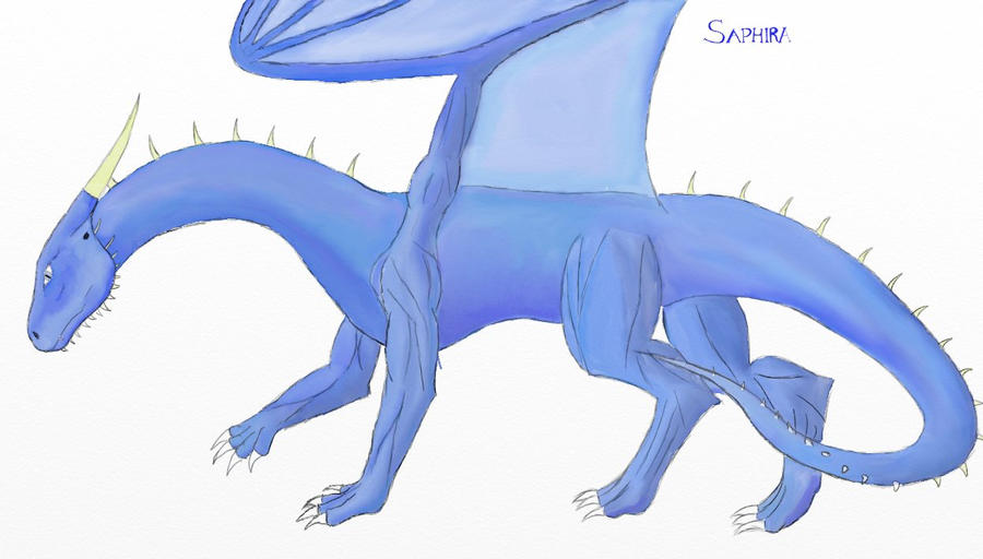 Saphira Flametongue by Dragon-Soul117