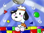A beagle in the dancing floor n.n