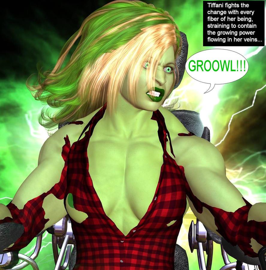 Tiffani becomes She-Hulk 19k by mercblue22