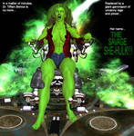 Tiffani becomes She-Hulk 19m