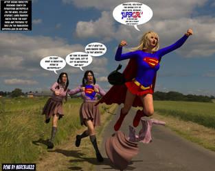 Linda Danvers becomes Supergirl at Kent Farm TF by mercblue22