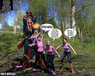 Captain Marvel in Woods TF 1! by mercblue22