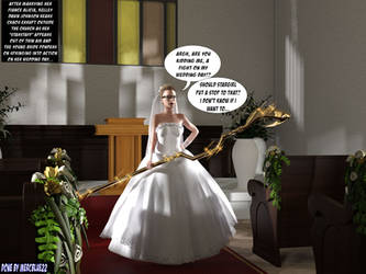 Kelley Holds Stargirl Staff at Wedding by mercblue22