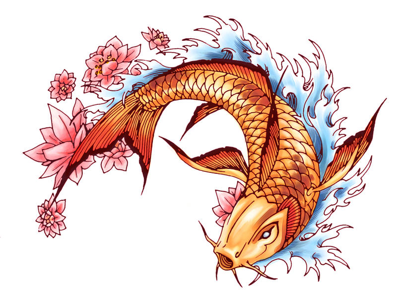 Koi fish by neekou on deviantart for Koi fish framed prints