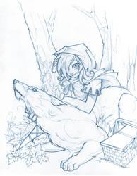 Little Red Riding Hood Sketch by Neekou