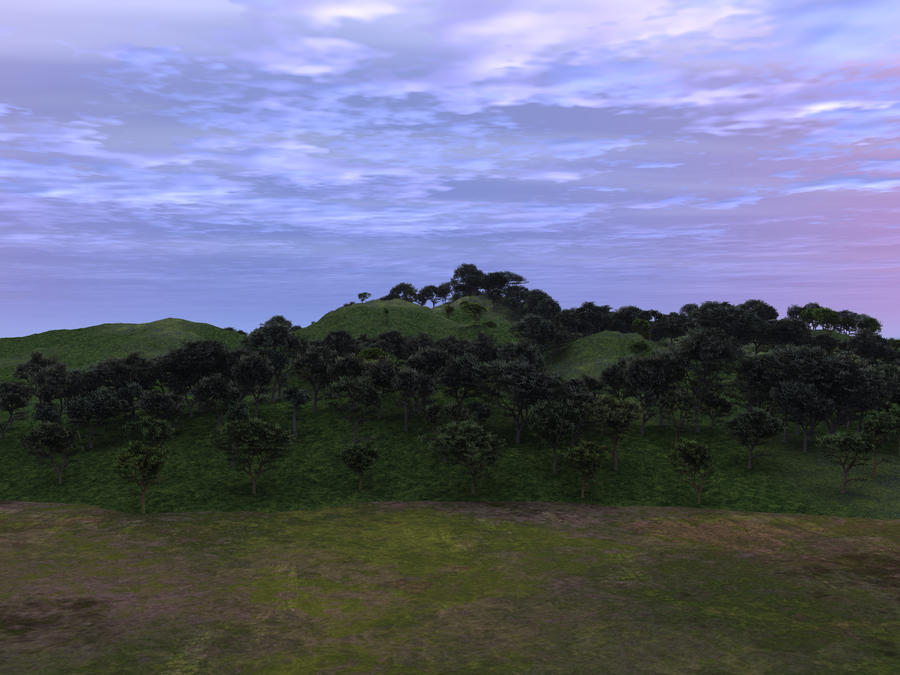 Trees on a Hill by wiyaneth