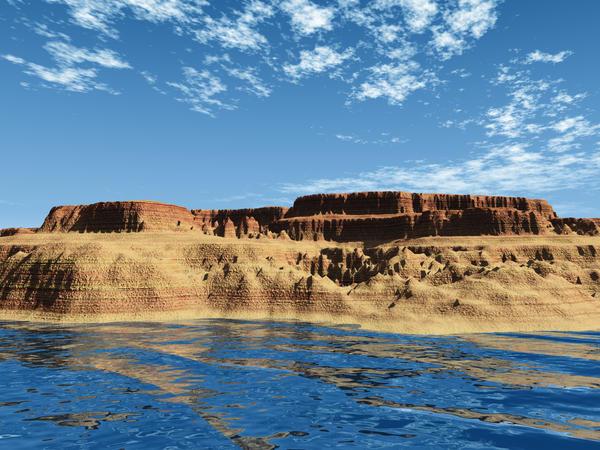 Desert Lake by wiyaneth
