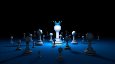 Chess country. Leader (chess metaphor). 3D render