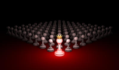 Great threat. Strong army (chess metaphor). 3D