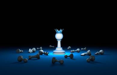The political upheaval. Winner (chess metaphor).