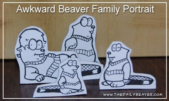 Daily Beaver - Awkward Family Portrait by RedWood-Beavers