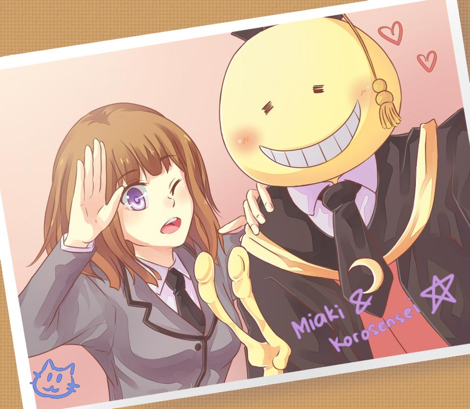 Miaki and Koro-sensei by cbsky
