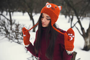 Fox Beanie and Mittens