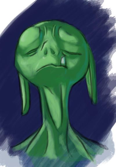 Sad Alien by Ikrus
