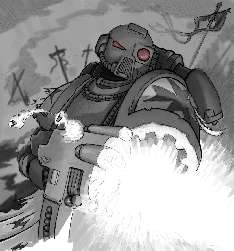 space marine wip by mavhn