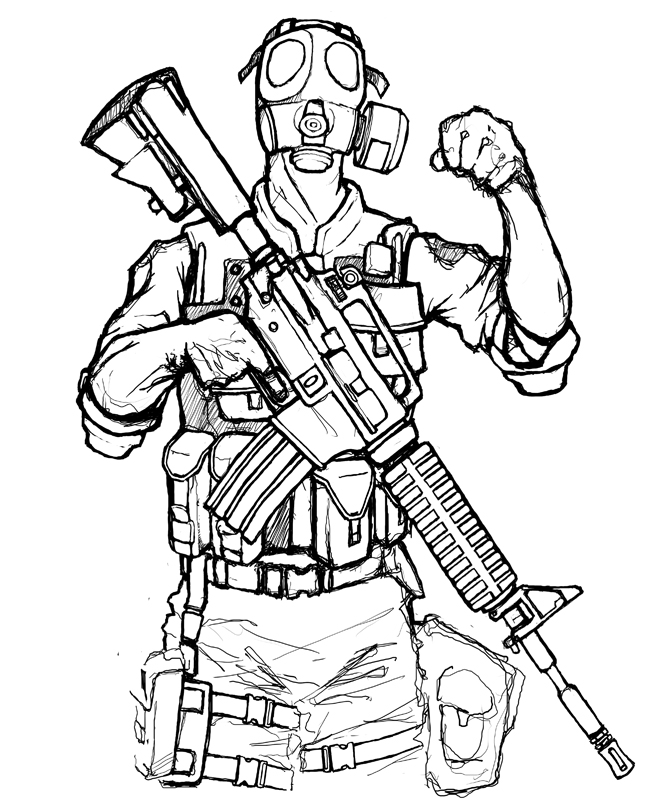 Swat Sniper Drawings