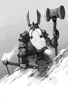 dwarf in the snow