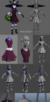 Miriam Albe 3D WIP images