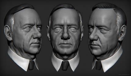 Frank Underwood Sculpt by mavhn